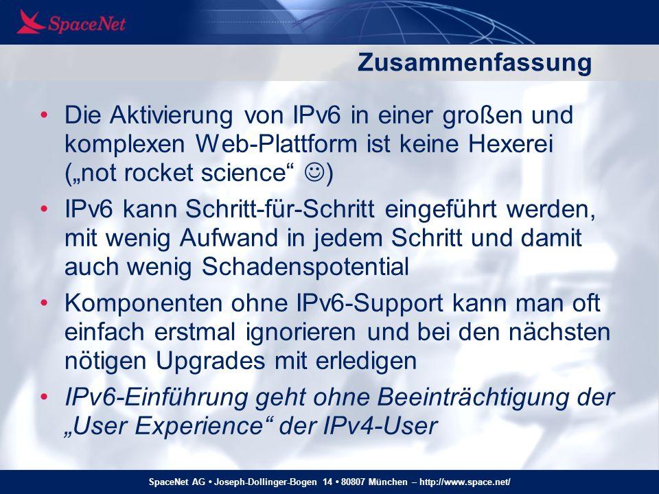 SpaceNet AG Joseph-Dollinger-Bogen 14 80807 München – http://www.space.net/ Finis Noch Fragen.