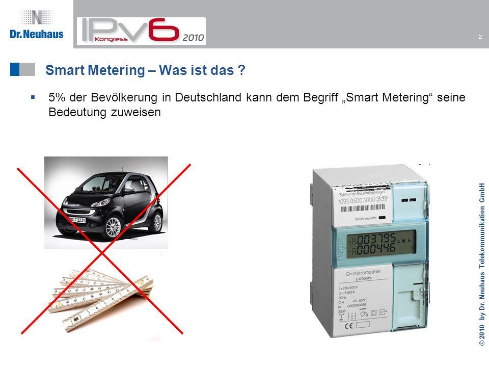 2 © 2010 by Dr.Neuhaus Telekommunikation GmbH Smart Metering – Was ist das .