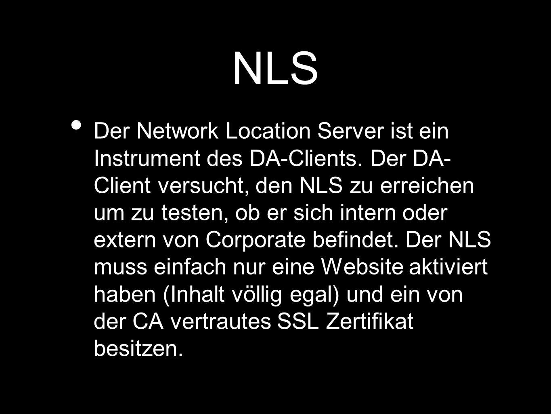 NLS Der Network Location Server ist ein Instrument des DA-Clients.