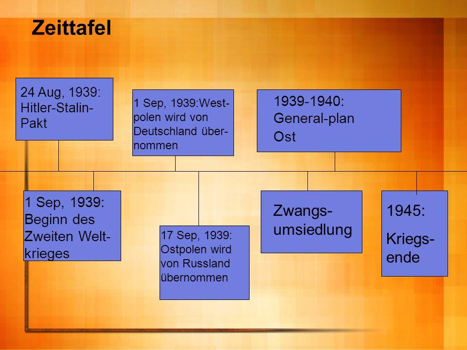 1 Sep, 1939:West- polen wird von Deutschland über- nommen 24 Aug, 1939: Hitler-Stalin- Pakt 1 Sep, 1939: Beginn des Zweiten Welt- krieges 17 Sep, 1939