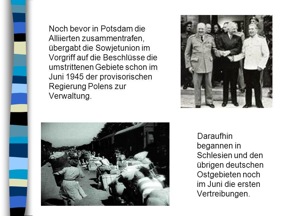 Der Flucht und der Vertreibung von deutschen aus Ländern östlich von Oder und Lausitzer Neiße gingen die Massendeportation und Ermordung von Juden, Po