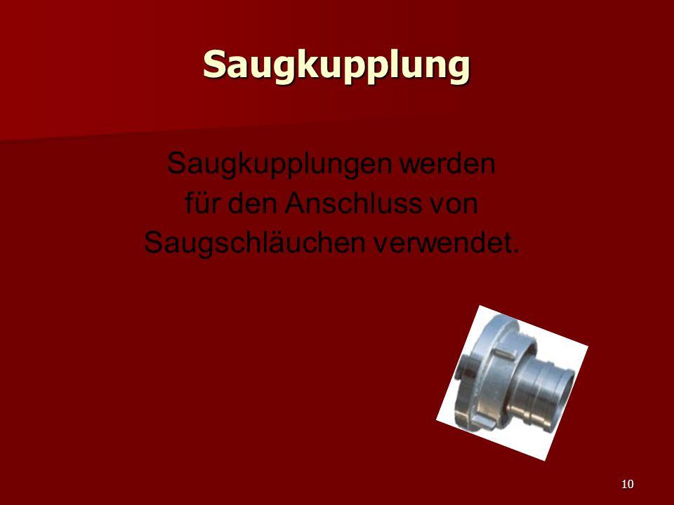 11 Festkupplung Festkupplung werden für den Anschluss von Schläuchen an Armaturen verwendet.