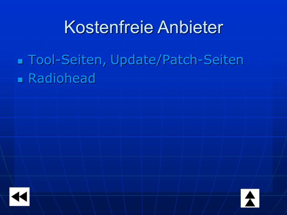 Kostenfreie Anbieter Tool-Seiten, Update/Patch-Seiten Tool-Seiten, Update/Patch-Seiten Radiohead Radiohead