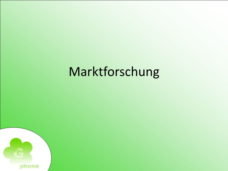 Marktforschung Marketing Marketing- Instrumente Primäre Markforschung Kommunikationspolitik Facebook 120.000 (0,02 / Klick) Google Adwords 1.000.000 (0,03 / Klick) TV-Werbung 1.500.000 Zeitung 1.000.000 Gesamtbudget: 3.620.000 Marketing- Instrumente