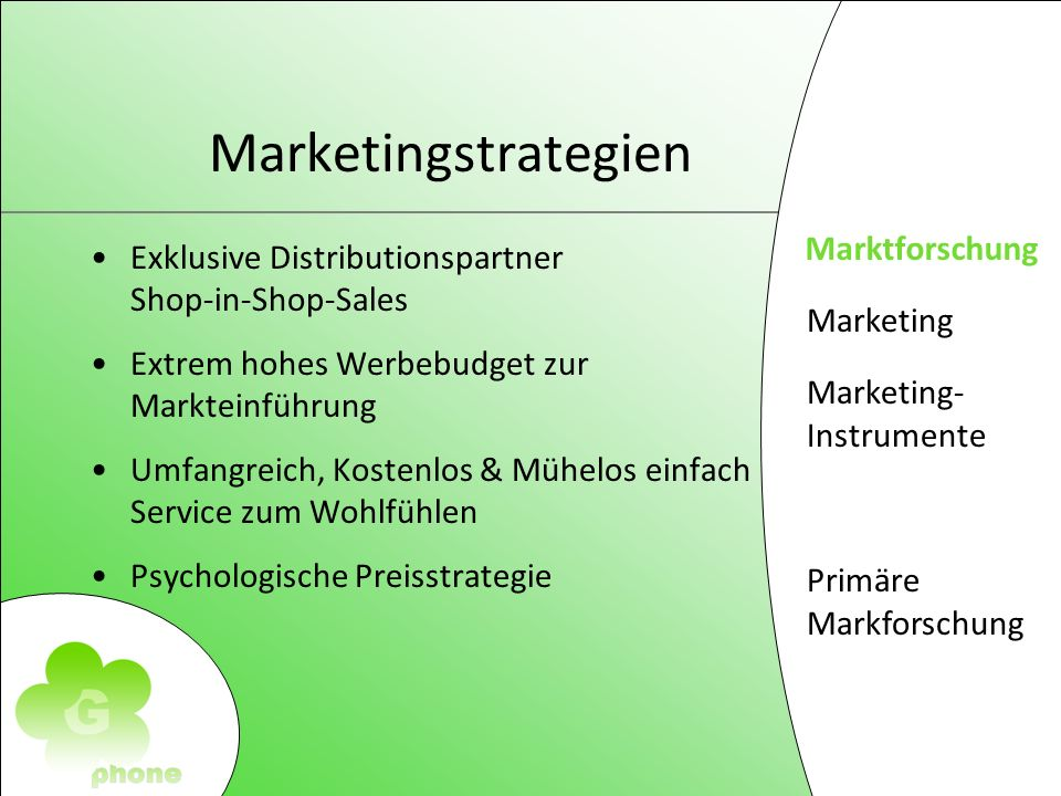 Marketing Marketing- Instrumente Primäre Markforschung Marketing