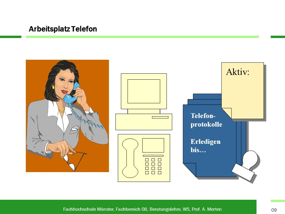 Arbeitsplatz Telefon Fachhochschule Münster, Fachbereich 08, Beratungslehre, WS, Prof.