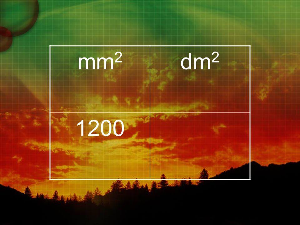 mm 2 dm 2 1200