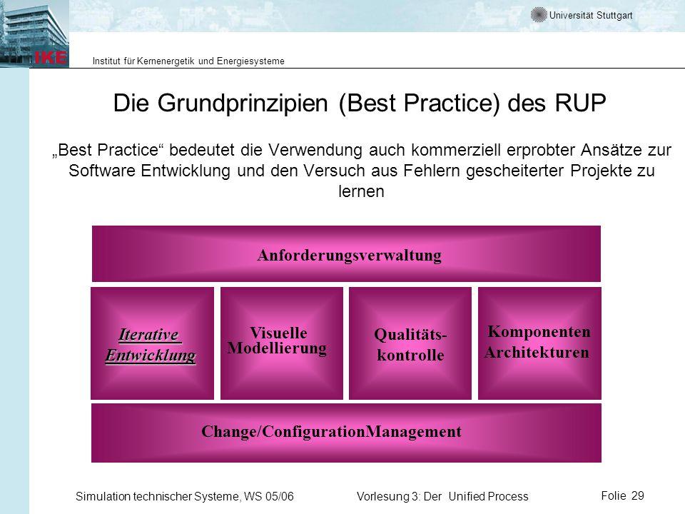 Universität Stuttgart Institut für Kernenergetik und Energiesysteme Simulation technischer Systeme, WS 05/06Vorlesung 3: Der Unified ProcessFolie 29 D