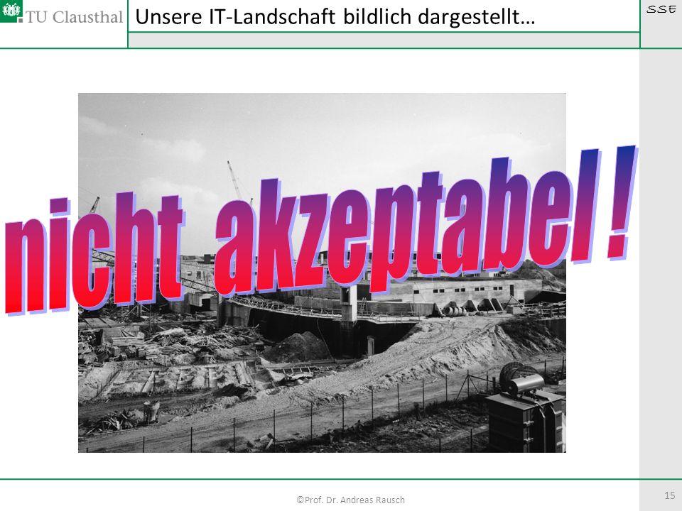 SSE ©Prof. Dr. Andreas Rausch 15 Unsere IT-Landschaft bildlich dargestellt…