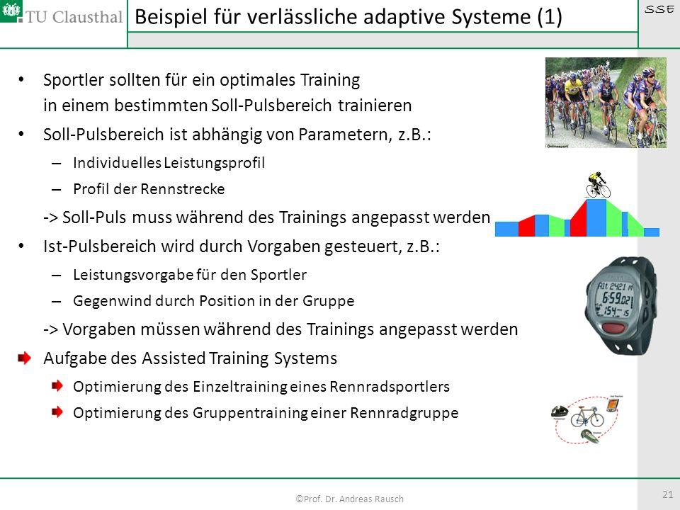 SSE ©Prof. Dr. Andreas Rausch 21 Sportler sollten für ein optimales Training in einem bestimmten Soll-Pulsbereich trainieren Soll-Pulsbereich ist abhä