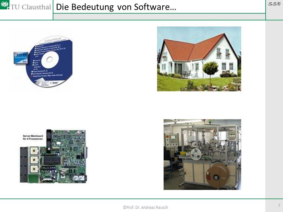 SSE ©Prof. Dr. Andreas Rausch 7 Die Bedeutung von Software…