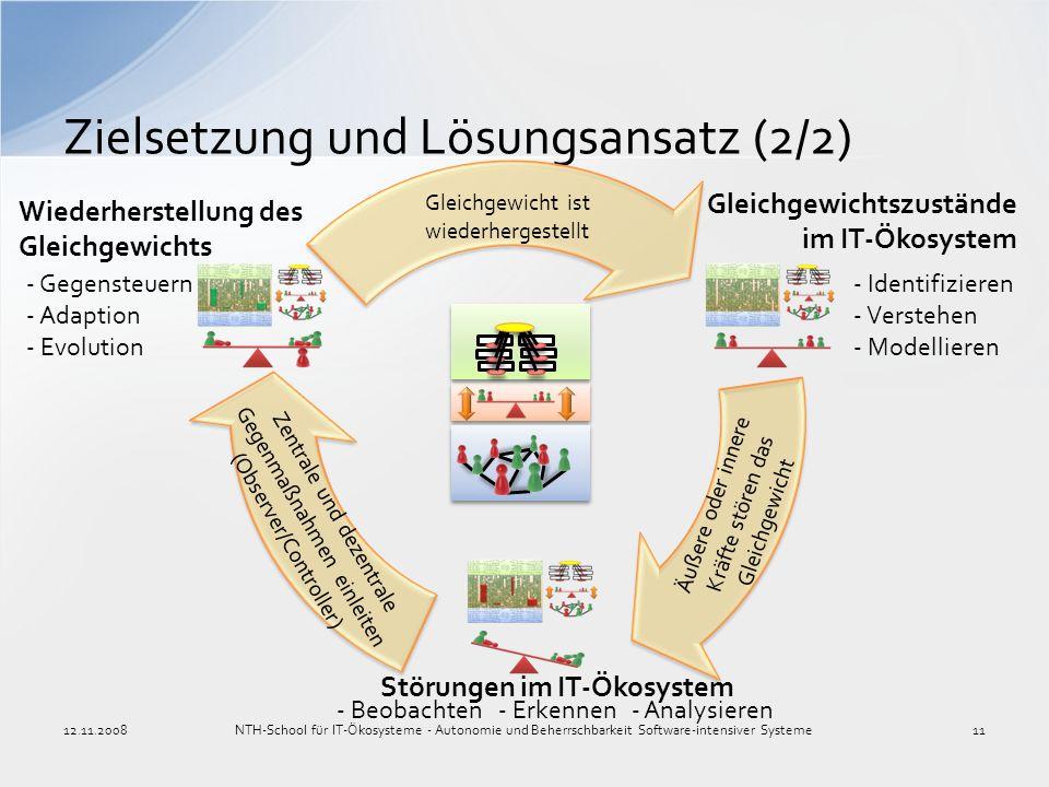Zielsetzung und Lösungsansatz (2/2) NTH-School für IT-Ökosysteme - Autonomie und Beherrschbarkeit Software-intensiver Systeme1112.11.2008 Zentrale und