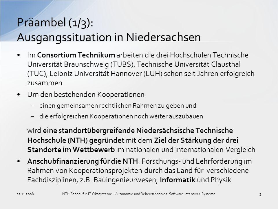 Im Consortium Technikum arbeiten die drei Hochschulen Technische Universität Braunschweig (TUBS), Technische Universität Clausthal (TUC), Leibniz Univ