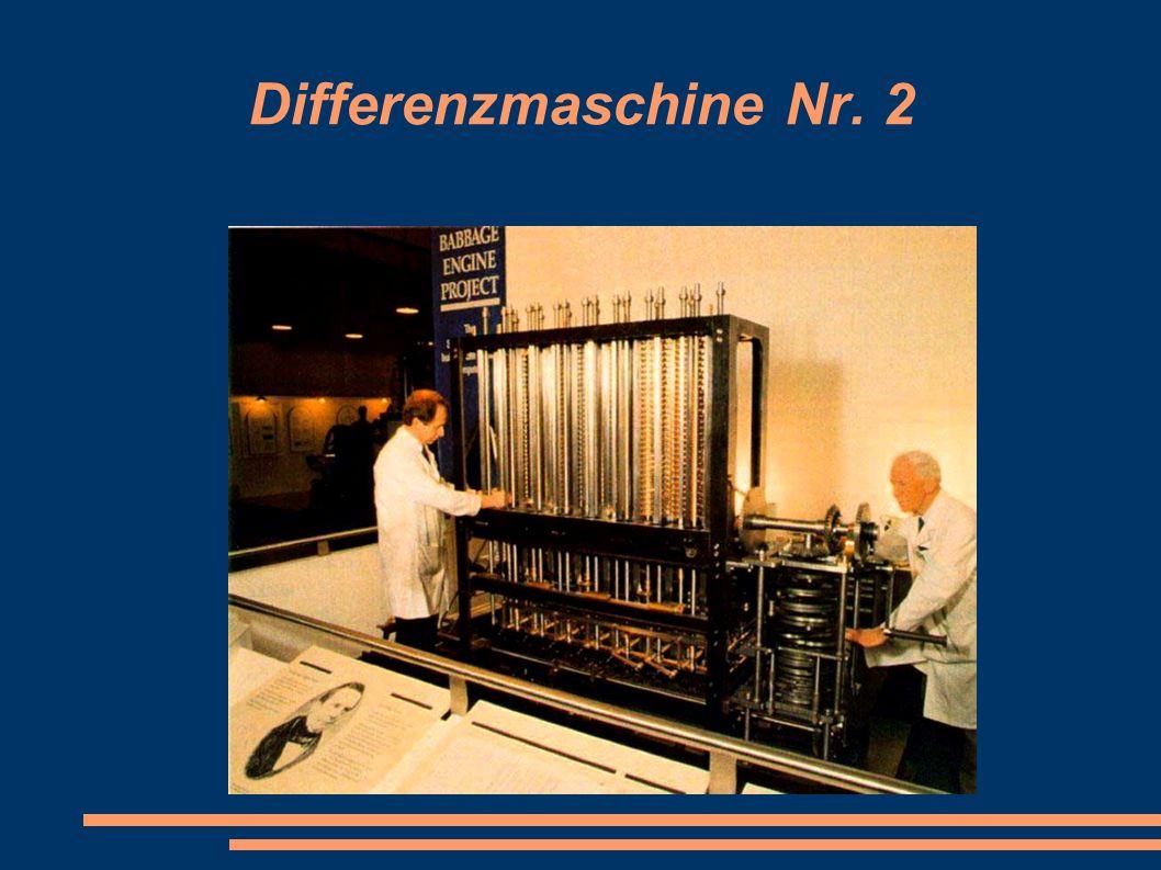 Differenzmaschine Nr. 2