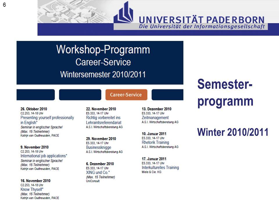 Semester- programm Winter 2010/2011 6