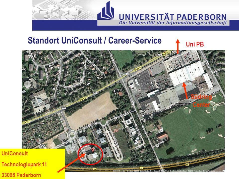 UniConsult Technologiepark 11 33098 Paderborn Südring Center Uni PB Standort UniConsult / Career-Service