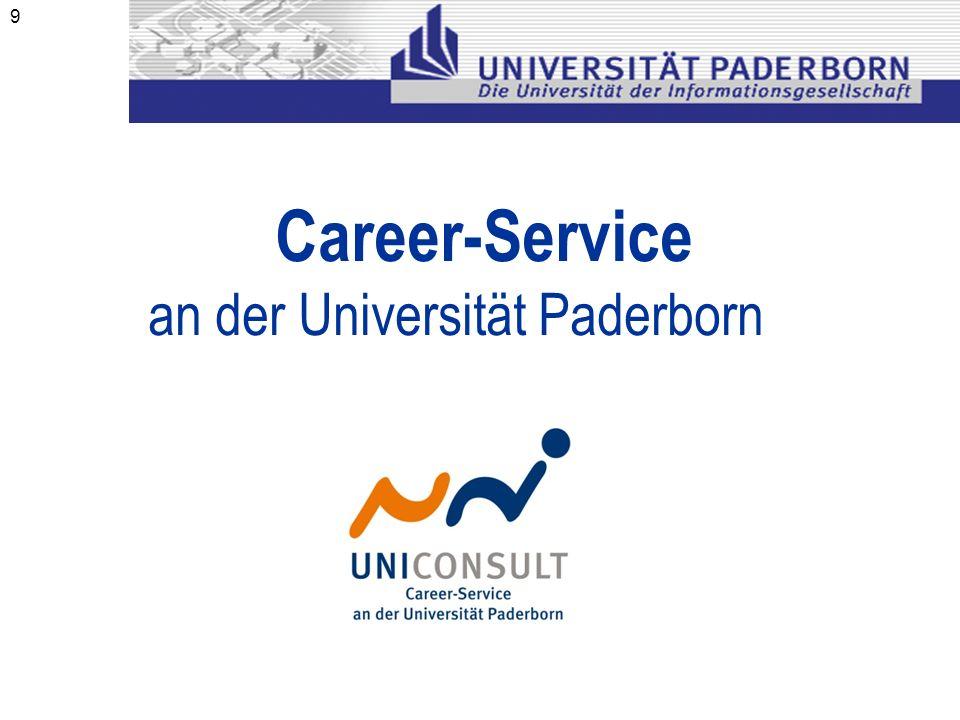 9 Career-Service an der Universität Paderborn