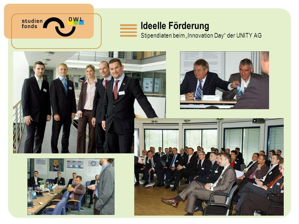Ideelle Förderung Stipendiaten beim Innovation Day der UNITY AG