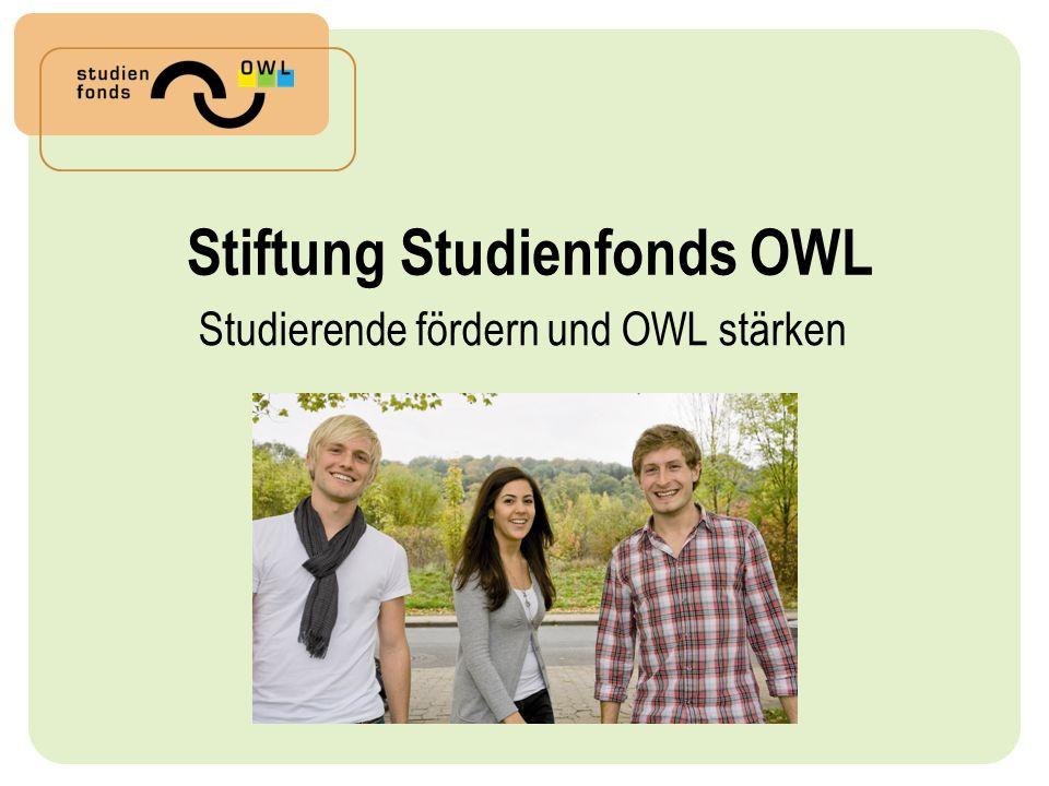 Stiftung Studienfonds OWL Studierende fördern und OWL stärken