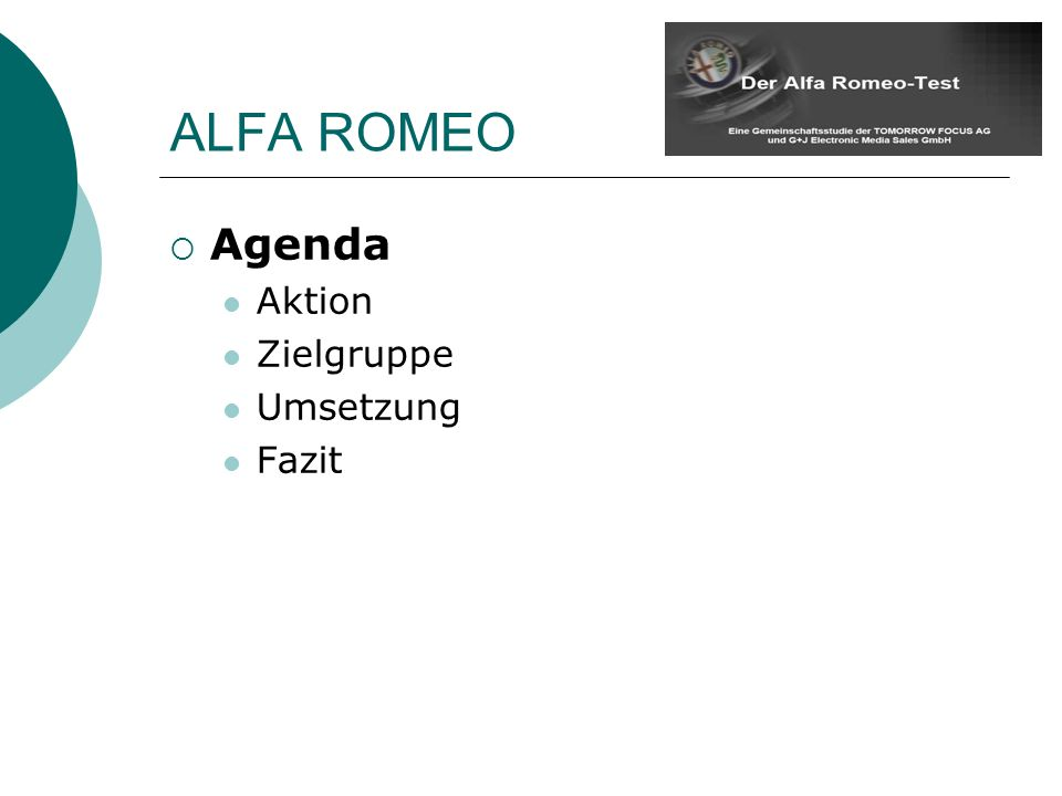 Agenda Aktion Zielgruppe Umsetzung Fazit