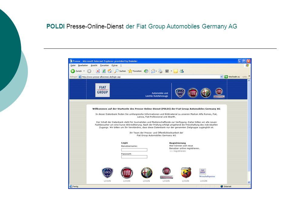 POLDI Presse-Online-Dienst der Fiat Group Automobiles Germany AG