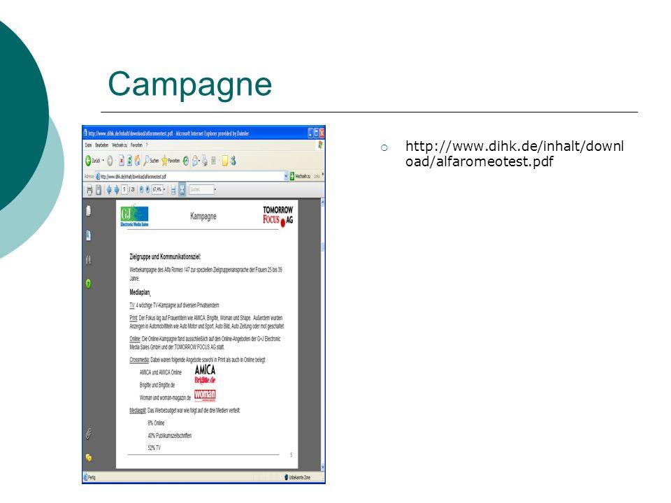 Campagne http://www.dihk.de/inhalt/downl oad/alfaromeotest.pdf