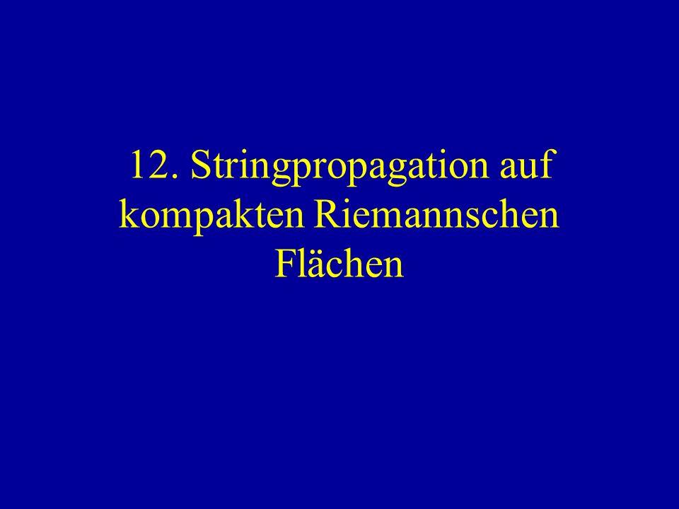 12. Stringpropagation auf kompakten Riemannschen Flächen