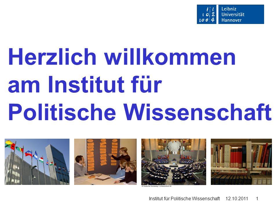 Masterstudiengang Politikwissenschaft Institut für Politische Wissenschaft 12.10.2011 2