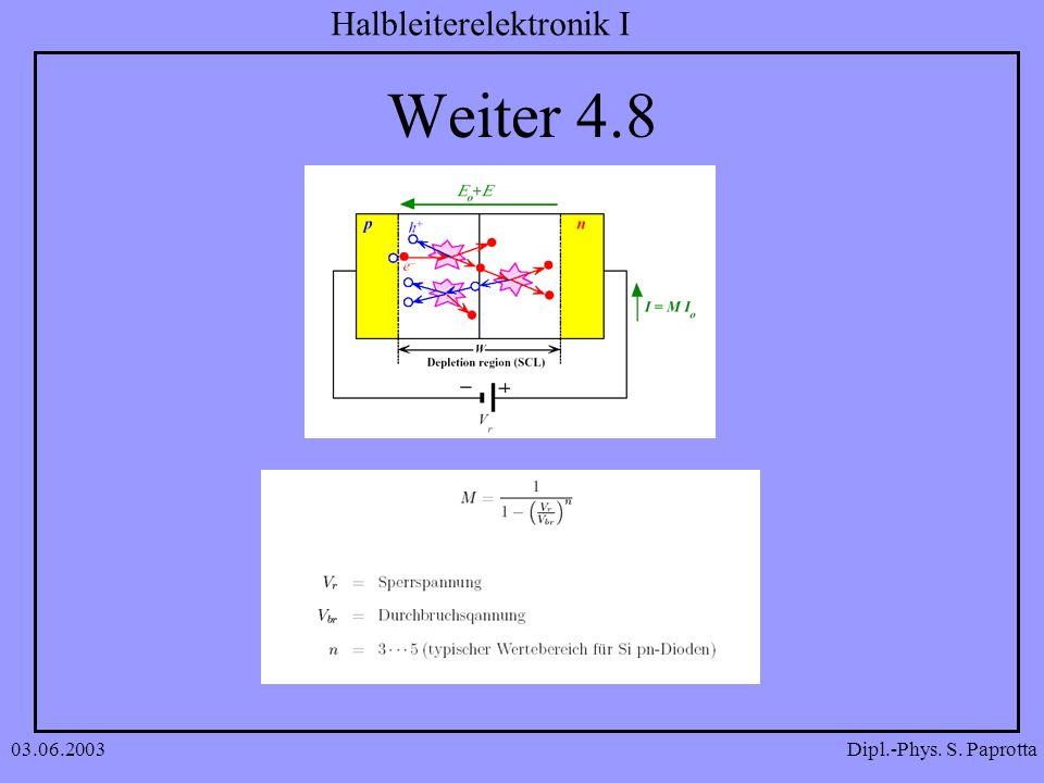 Dipl.-Phys. S. Paprotta Halbleiterelektronik I 03.06.2003 Weiter 4.8