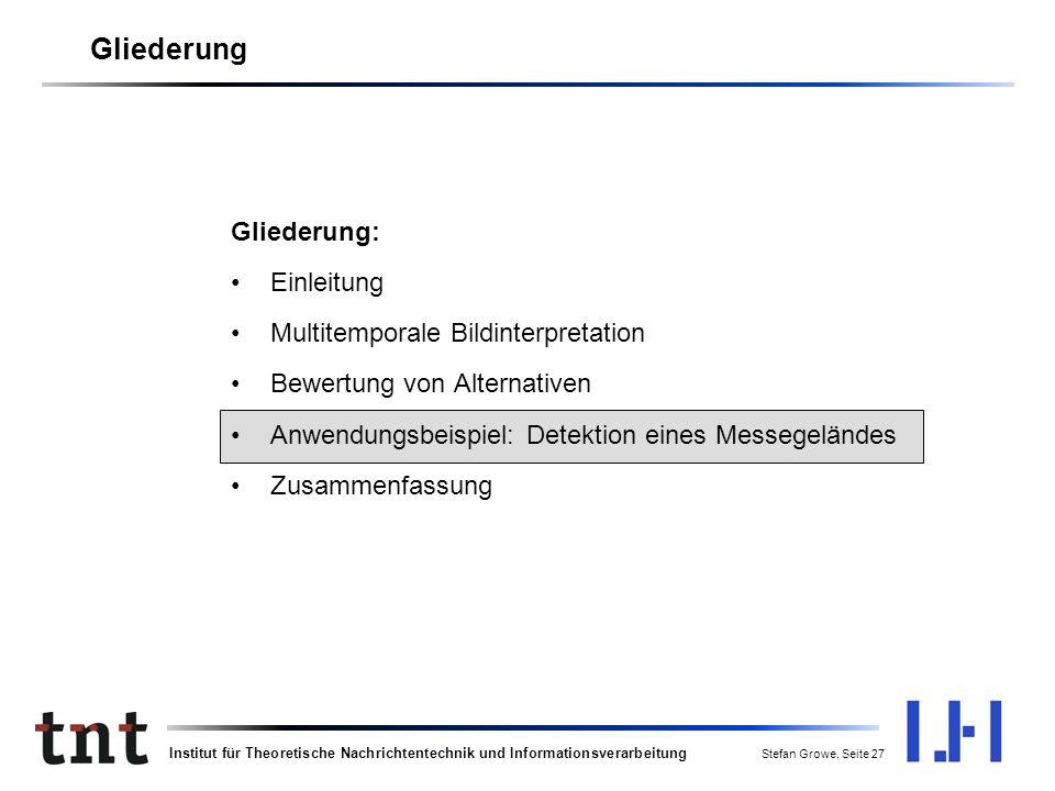 Institut für Theoretische Nachrichtentechnik und Informationsverarbeitung Stefan Growe, Seite 26 Bewertung von AlternativenVom sem.