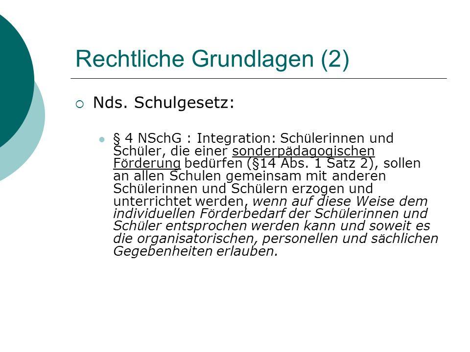 Rechtliche Grundlagen (2) Nds.