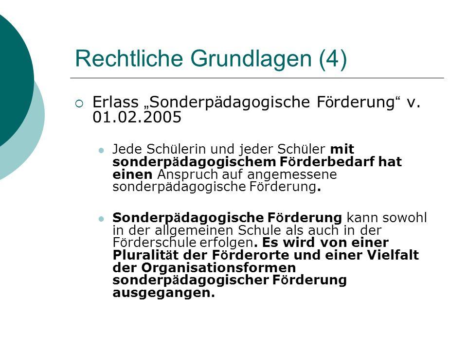 Rechtliche Grundlagen (4) Erlass Sonderp ä dagogische F ö rderung v.