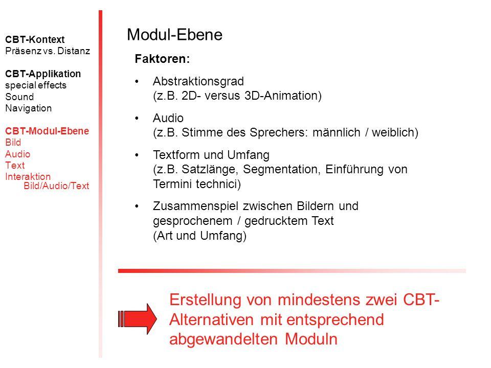 CBT-Kontext Präsenz vs.