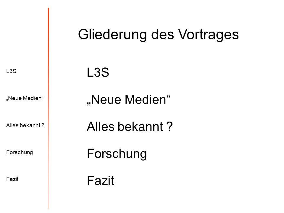 L3S Alles bekannt .Neue Medien Forschung Fazit Virtuelle Realität Petersen, A.