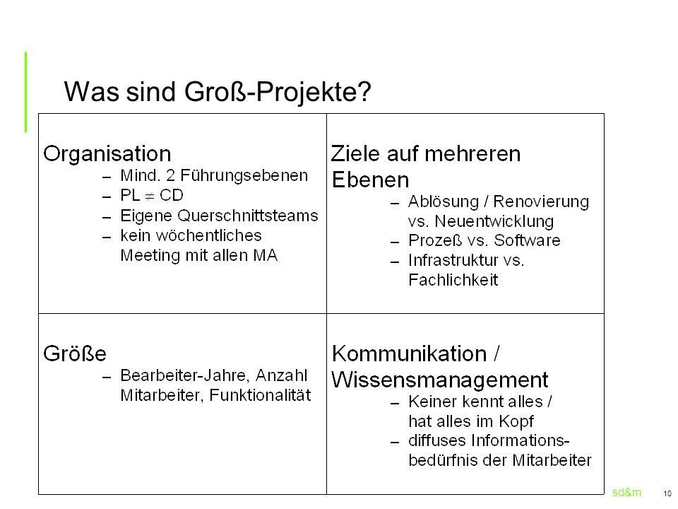 sd&m 10 Was sind Groß-Projekte?