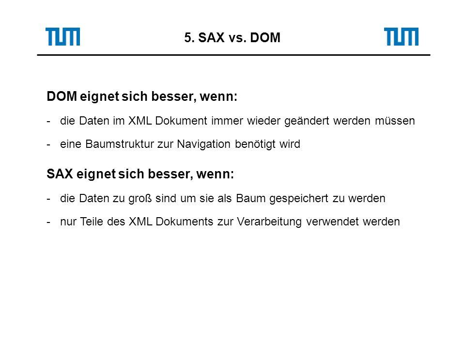 5. SAX vs.