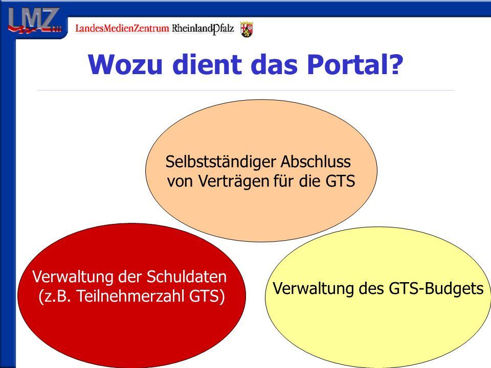 Wozu dient das Portal. Verwaltung der Schuldaten (z.B.