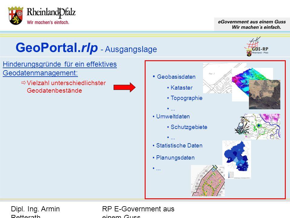 RP E-Government aus einem Guss Dipl. Ing. Armin Retterath, LVermGeo – KGSt. GDI-RP - Seite 4 Hinderungsgründe für ein effektives Geodatenmanagement: V