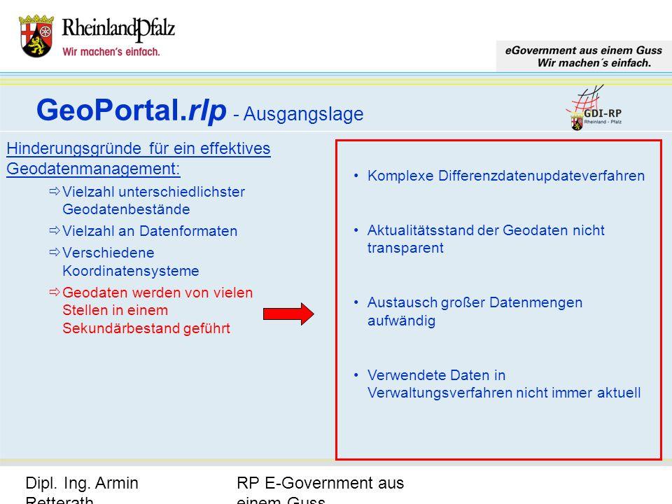 RP E-Government aus einem Guss Dipl. Ing. Armin Retterath, LVermGeo – KGSt. GDI-RP - Seite 7 Hinderungsgründe für ein effektives Geodatenmanagement: V