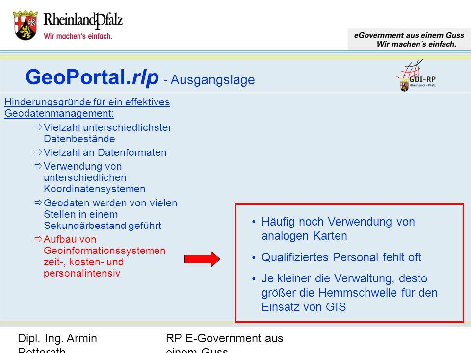 RP E-Government aus einem Guss Dipl. Ing. Armin Retterath, LVermGeo – KGSt. GDI-RP - Seite 8 Hinderungsgründe für ein effektives Geodatenmanagement: V