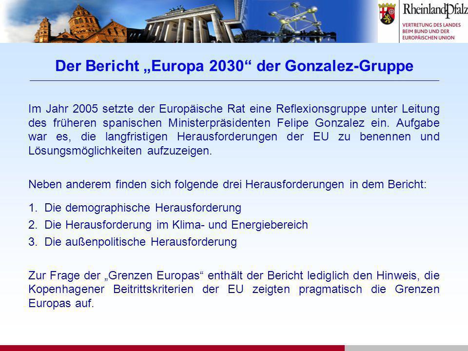 Der Bericht Europa 2030 der Gonzalez-Gruppe __________________________________________________________________________________________________________