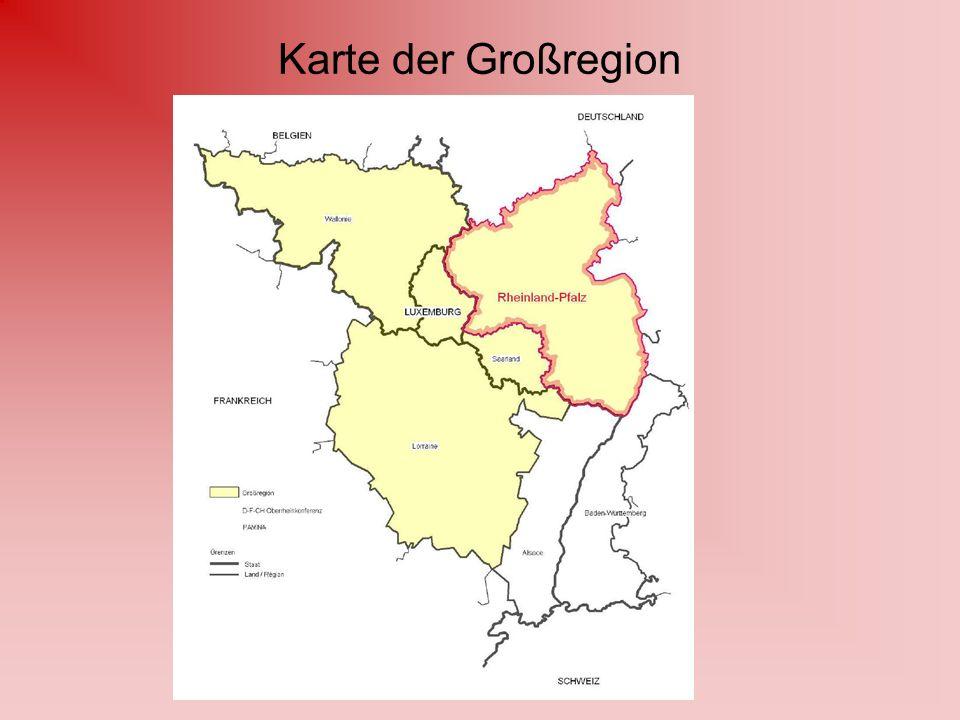 Karte der Großregion