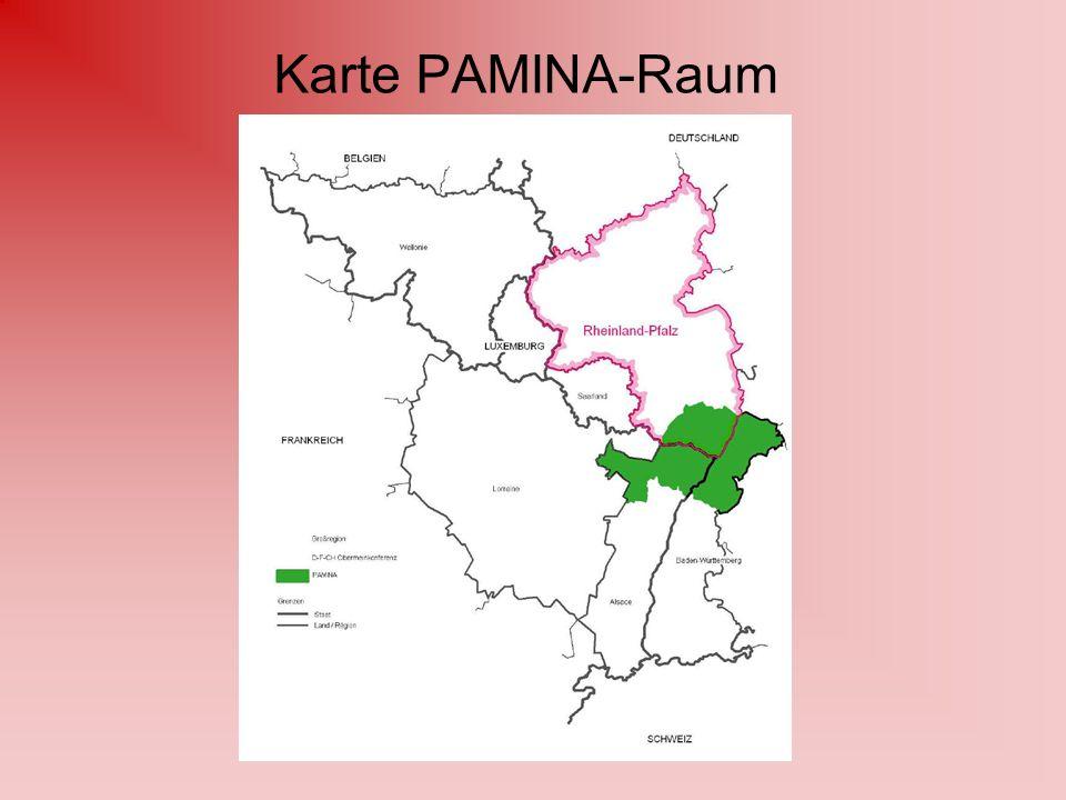 Karte PAMINA-Raum