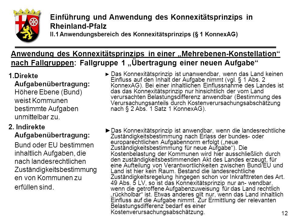 12 1.Direkte Aufgabenübertragung: Höhere Ebene (Bund) weist Kommunen bestimmte Aufgaben unmittelbar zu.