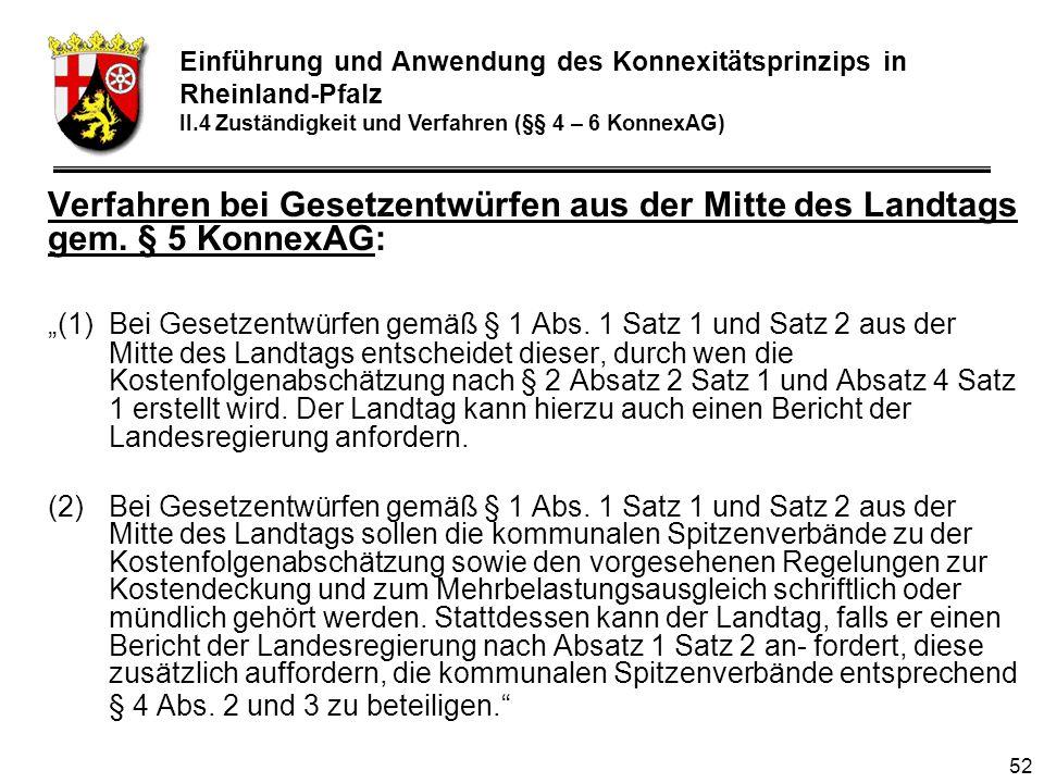 52 Verfahren bei Gesetzentwürfen aus der Mitte des Landtags gem.