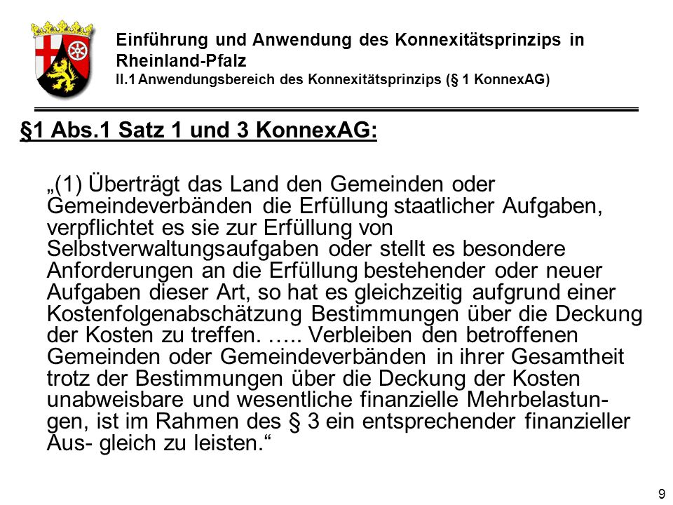 30 Kostenfolgenabschätzung (i.e.S.) -7 § 2 Abs.1 : allgemein –Die KF i.e.S.