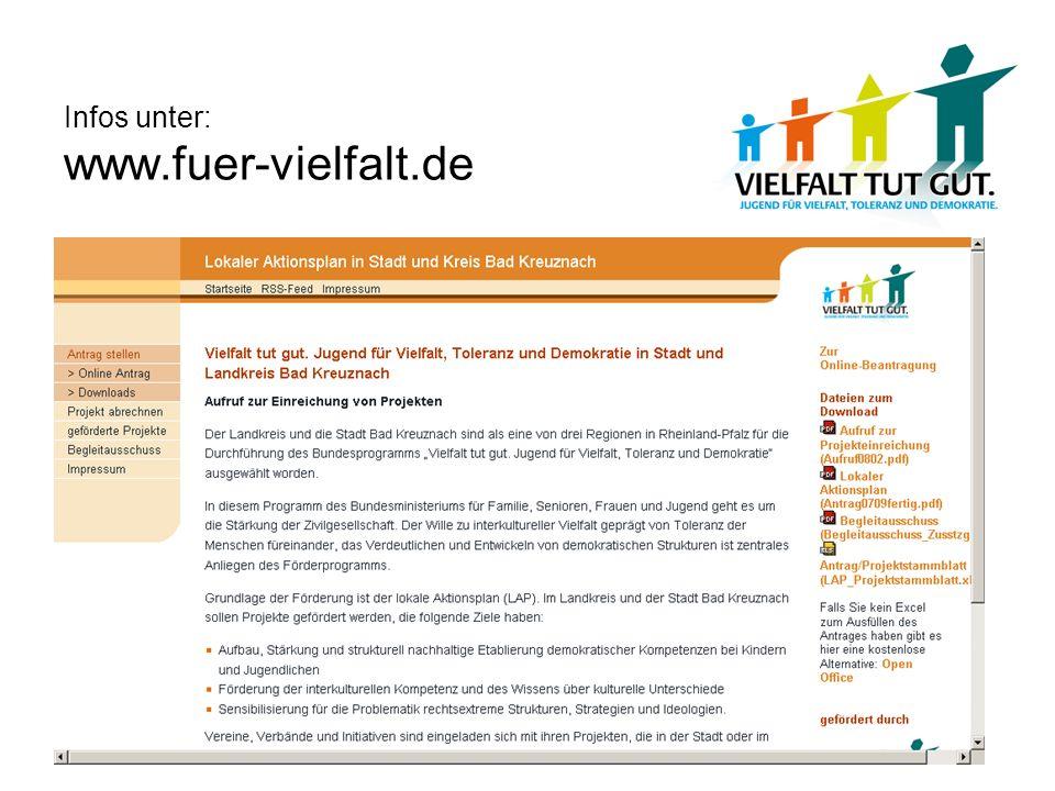 Infos unter: www.fuer-vielfalt.de
