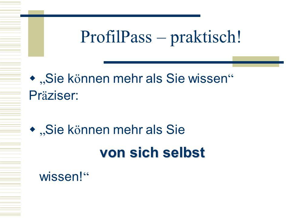 ProfilPass – praktisch.