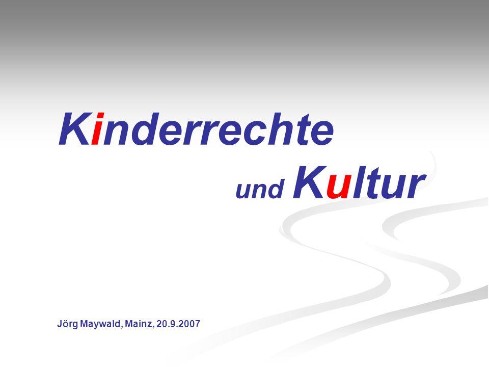 Gliederung _________________________________ Warum Kinderrechte.