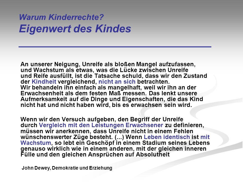 Kinderrechte – ein Blick zurück Internationale Entwicklungen ________________________________ Ellen Key: Das Jahrhundert des Kindes (1900) (u.a.